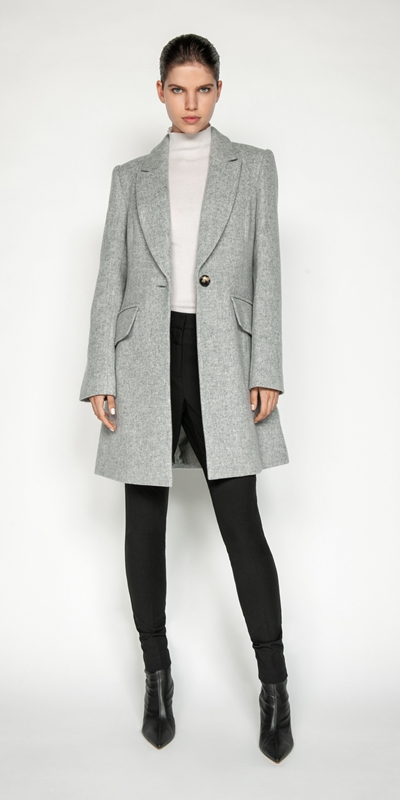 Coats | Melange Wool Coat