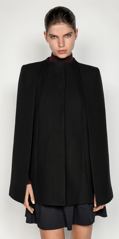 Coats | Wool Twill Cape