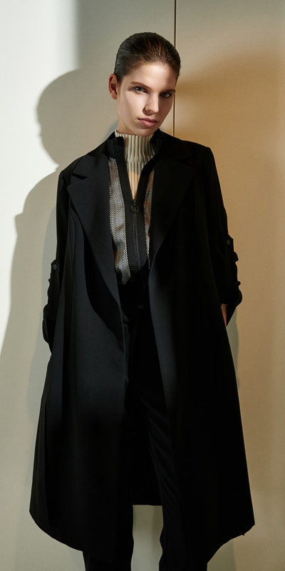 Jackets  | Crepe Trench Jacket