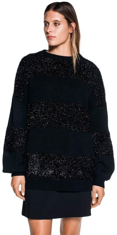 Knitwear  | Metallic Stripe Oversize Knit