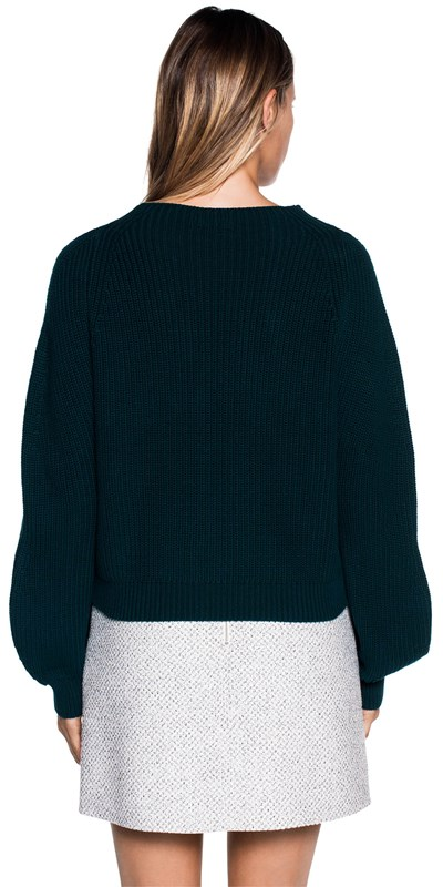 Knitwear | Exaggerated Sleeve Cotton Sweater