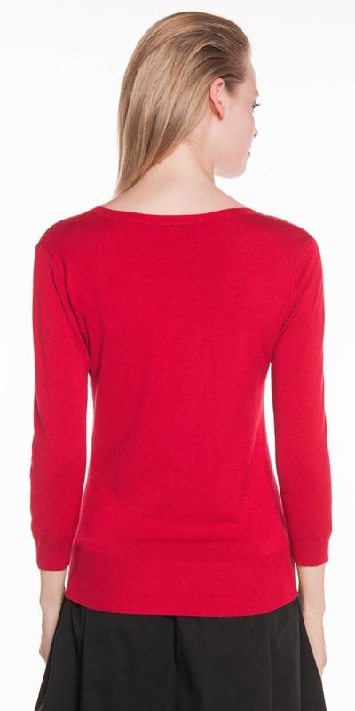 Knitwear | 3/4 Sleeve V Neck Knit
