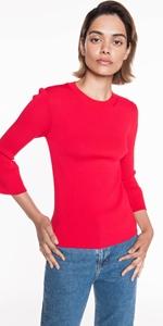 Knitwear | Fluted Sleeve Knit