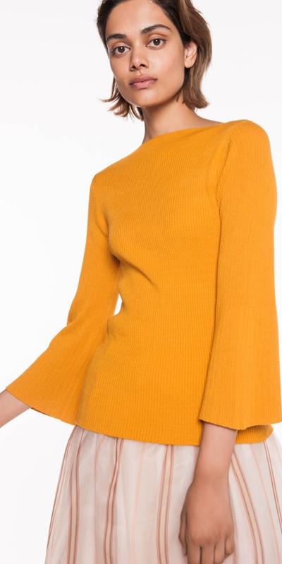 Knitwear  | Rib Slash Neck Knit