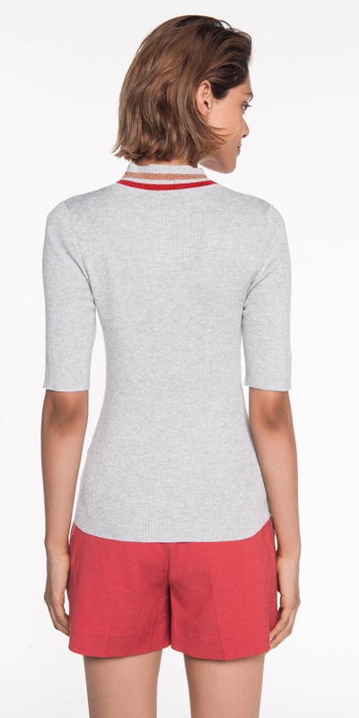 Knitwear | Ribbed Lurex Knit