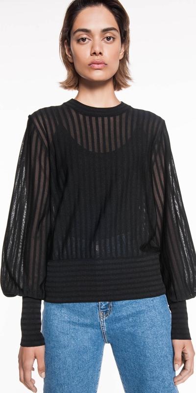 Knitwear | Sheer Stripe Knit