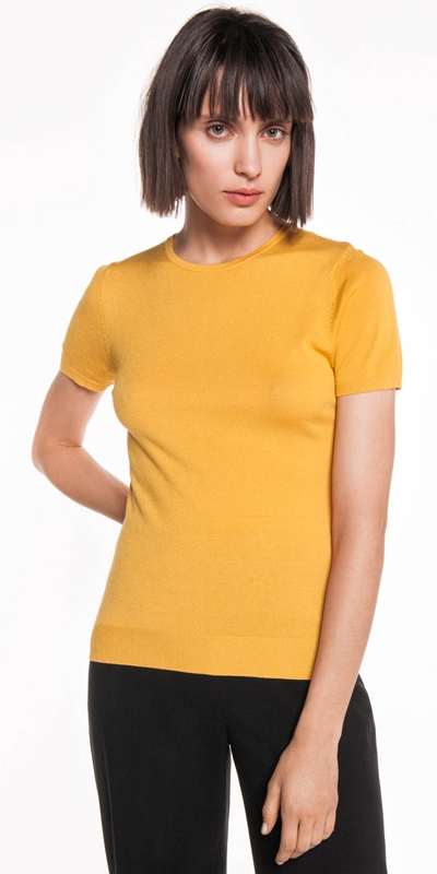 Dresses  | Short Sleeve Round Neck Knit