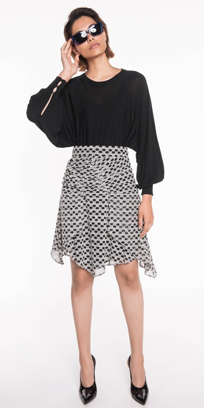 Knitwear | Blouson Sleeve Sweater