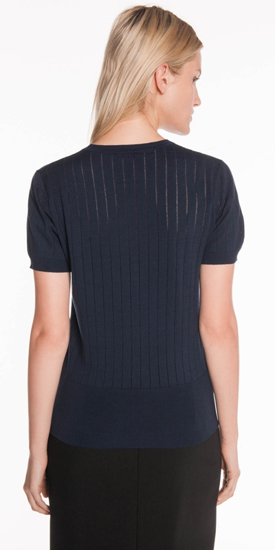 Knitwear | Perforated Stripe Knit