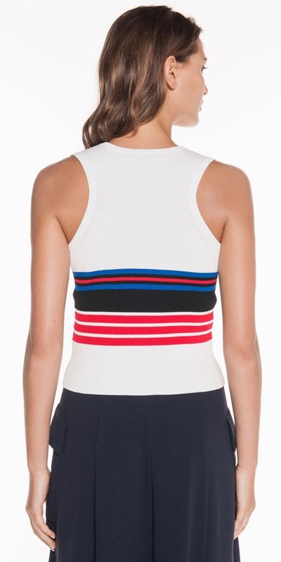 Knitwear   Stripe Racer Back Tank