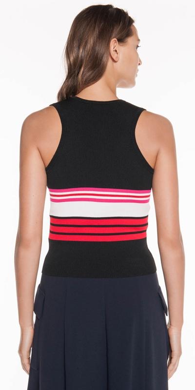 Knitwear | Stripe Racer Back Tank
