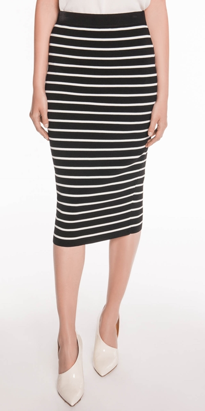 Knitwear  | Stripe Knit Skirt