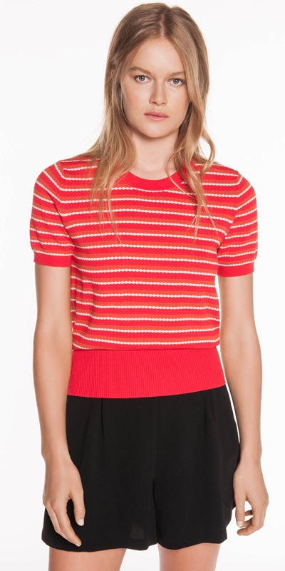 Sale  | Textured Stripe Knit