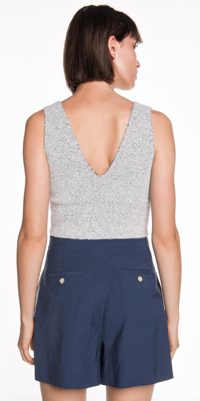 Knitwear | Textured Knit Bodice