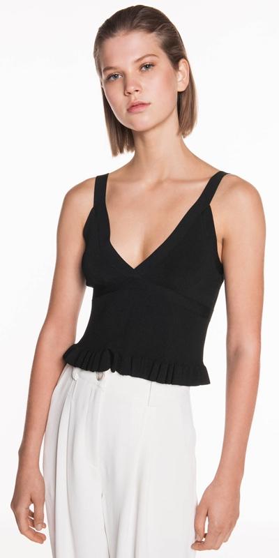 Knitwear | Frill Knit Bodice