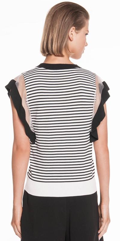 Knitwear | Stripe Ruffle Knit