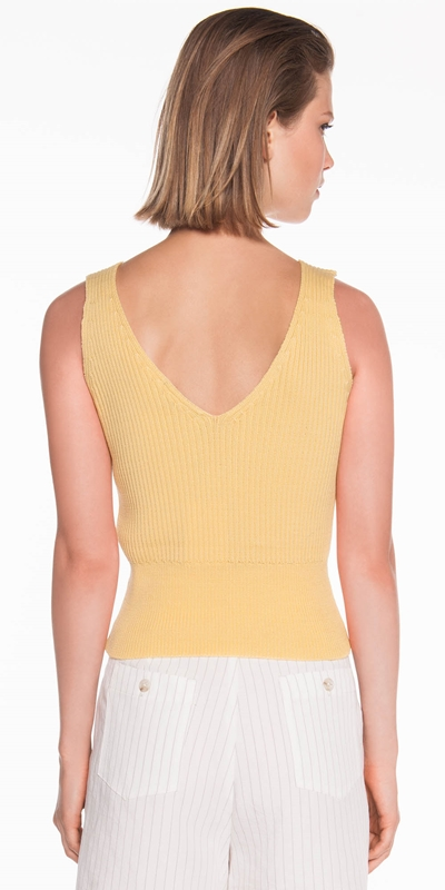 Knitwear | Cropped Cotton Knit Cami