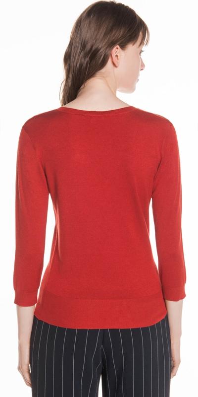 Knitwear | V Neck 3/4 Sleeve Knit