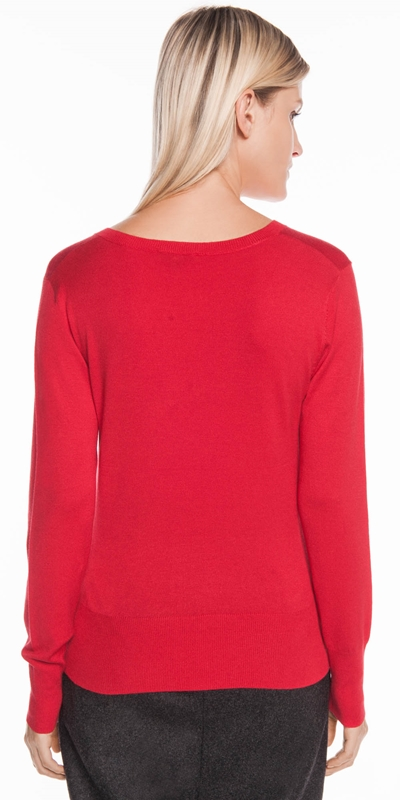 Knitwear | V Neck Long Sleeve Knit