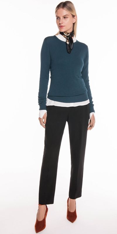 Tops | Round Neck Long Sleeve Knit