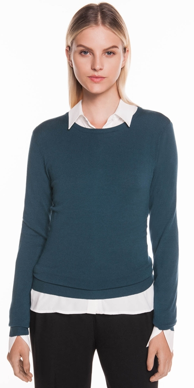 Sale  | Round Neck Long Sleeve Knit
