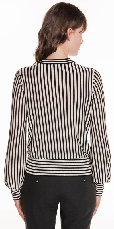 Knitwear | Monochrome Sheer Stripe Knit