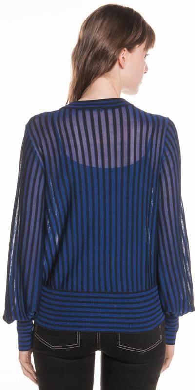 Knitwear   Sheer Stripe Knit