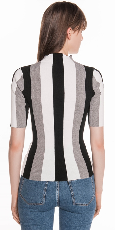 Knitwear   Stripe Rib Knit