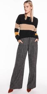 Knitwear | Fluffy Colour Block Sweater