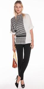 Knitwear | Spliced Check Jacquard Knit