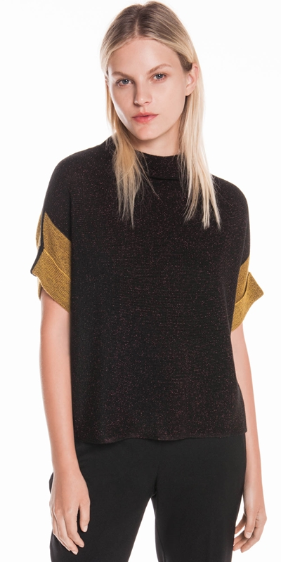 Tops | Lurex Batwing Knit