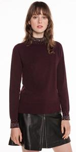 Knitwear | Metallic Beaded Knit