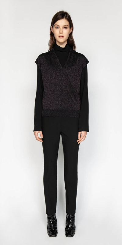 Knitwear | Lurex Wrap Front Knit