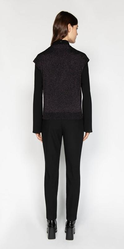 Knitwear | Lurex Wrap Front Knit