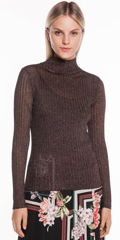 Knitwear | Ribbed Metallic Knit