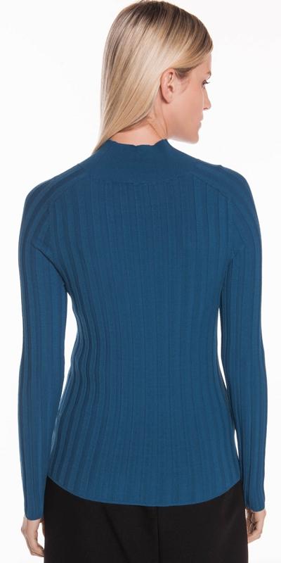 Knitwear | Wide Rib Long Sleeve Knit