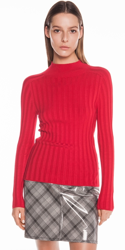 Sale  | Wide Rib Long Sleeve Knit