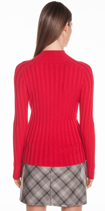Knitwear | Wide Rib Long Sleeve Knit