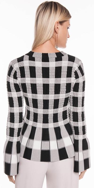 Knitwear | Shirred Check Knit