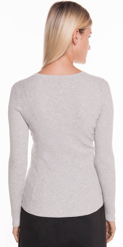 Knitwear | Ribbed Long Sleeve Knit