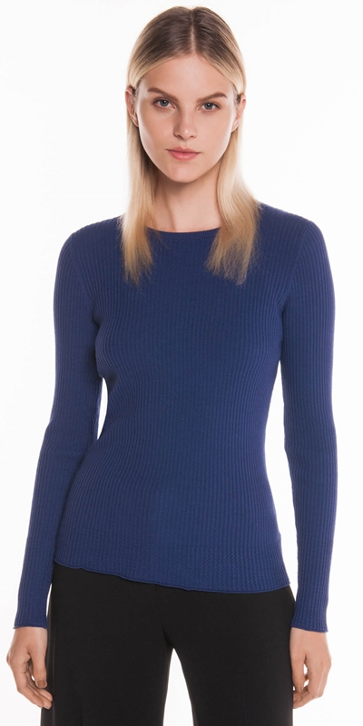 Tops  | Ribbed Long Sleeve Knit