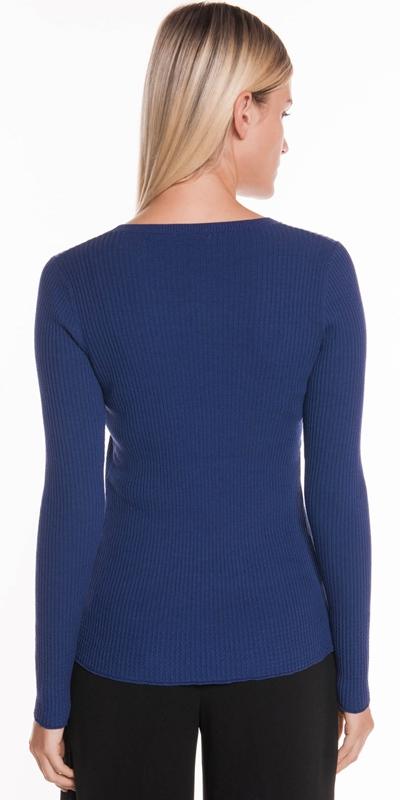Knitwear | Ribbed Long Sleeve Knit