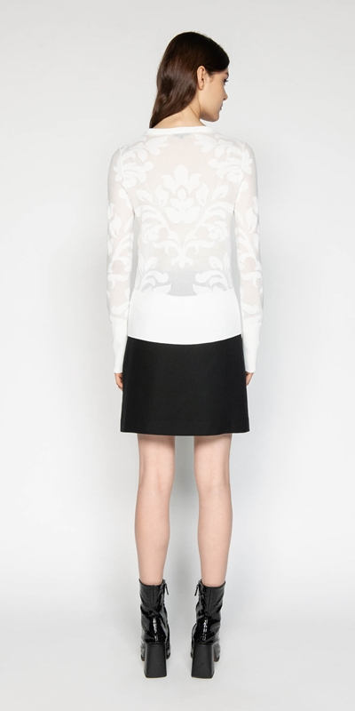 Knitwear | Floral Jacquard Knit