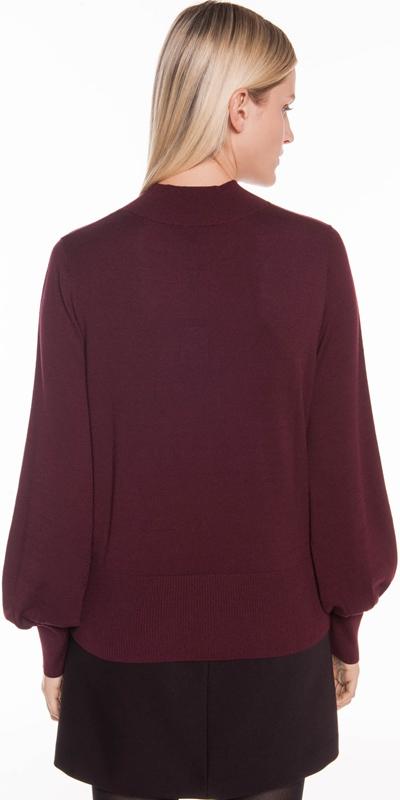 Knitwear | Blouson Sleeve Argyle Knit