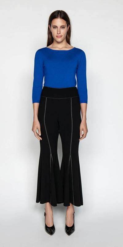 Knitwear | Boat Neck 3/4 Sleeve Knit