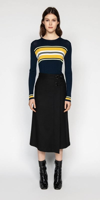 Knitwear | Colour Block Stripe Knit