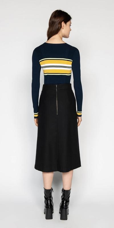 Knitwear | Colour Block Stripe Knit