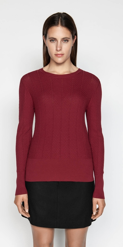 Sale  | Lattice Textured Knit