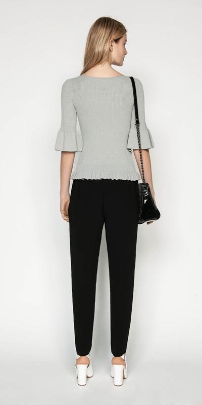 Knitwear | Ruffle Peplum Rib Knit