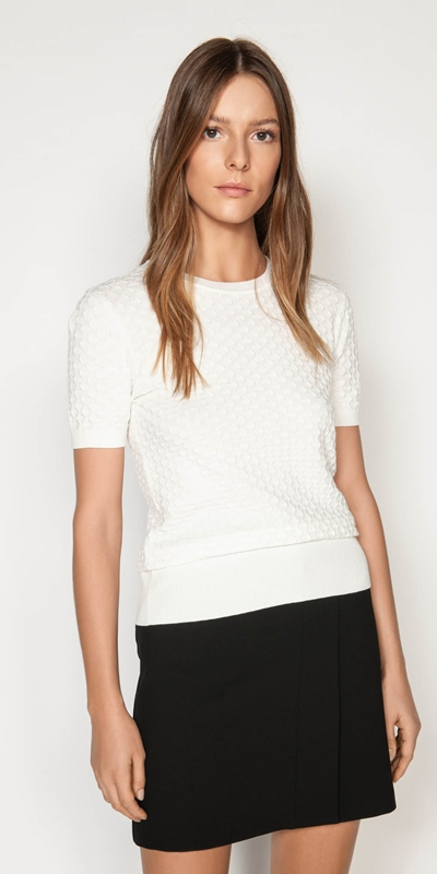 Sale  | Textured Short Sleeve Knit